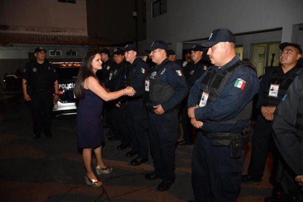 [Galería] Acude Célida López Cárdenas a la Comandancia Centro