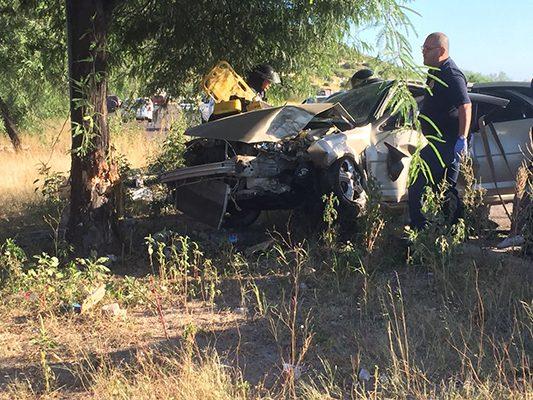 Estrepitosa colisión deja dos personas lesionadas