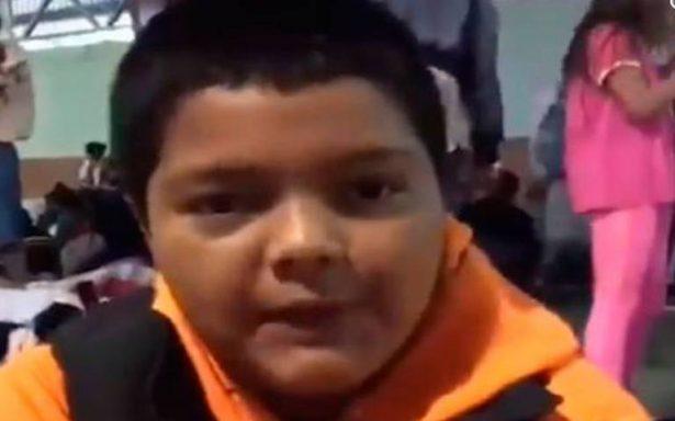 Mario Castellanos, el rostro del drama de los niños migrantes que viajan solos