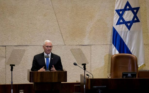 Pence anuncia apertura de embajada de EU en Jerusalén antes de 2020