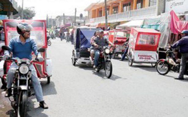 Crecen mafias de mototaxis en el Estado de México