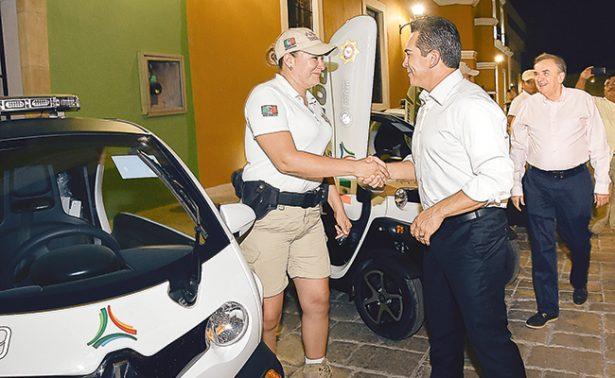 Entregan patrullas ecológicas para centro histórico de Campeche