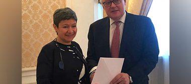 Nueva embajadora de México en Rusia afirma lazos bilaterales