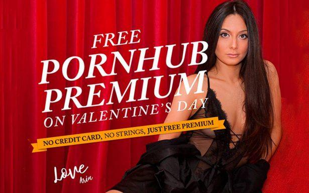 Un regalote hot: Pornhub Premium gratis este Día de San Valentín