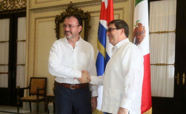 Luis Videgaray busca apoyo de Cuba para resolver crisis en Venezuela