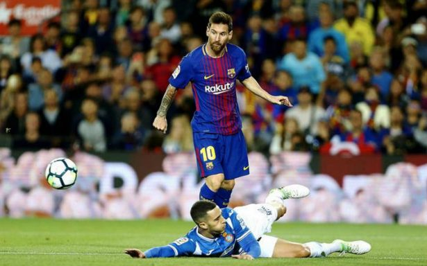 Fiesta de Messi y el Barça en derbi catalan