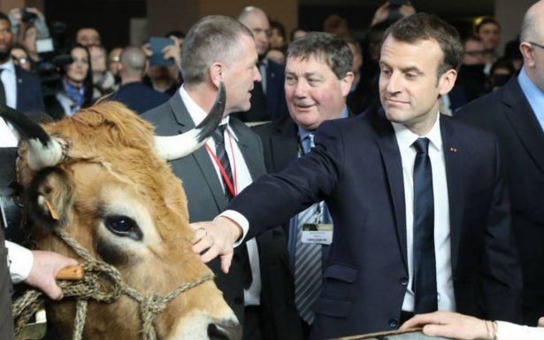 Los agricultores silbaron a Macron