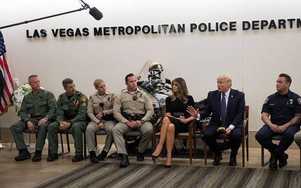 Donald Trump deja Las Vegas sin hablar sobre el tema de armas