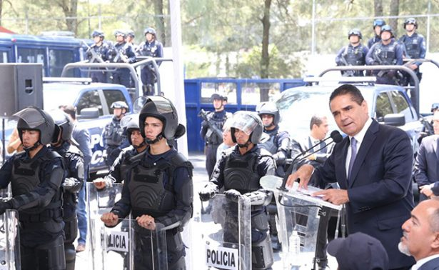 Fortalecen corporaciones de seguridad de Michoacán