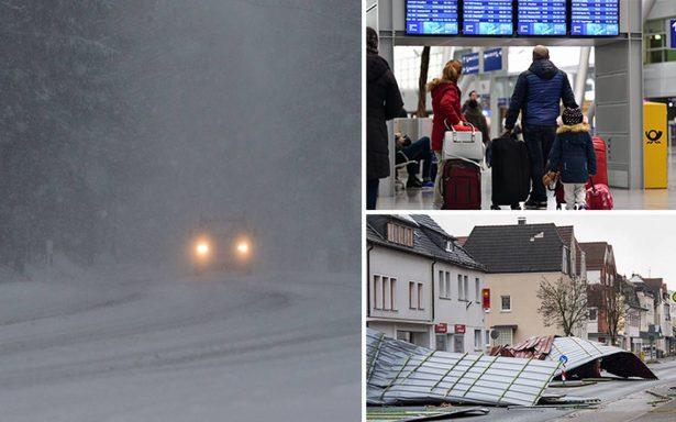 Europa sufre furia del clima: al menos nueve muertos por tormenta 'Friederike'