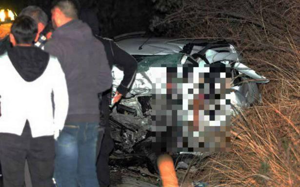 Fatal choque en Xochimilco deja cuatro muertos y dos heridos, entre ellos un bebé
