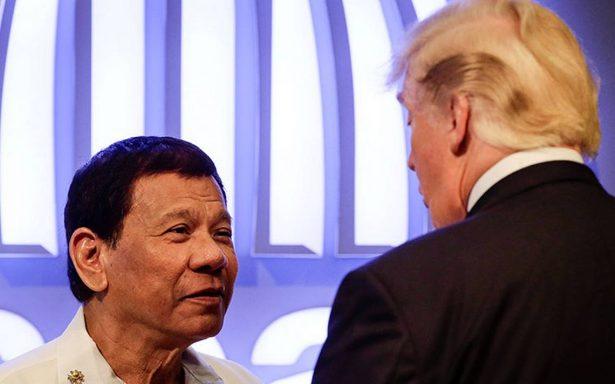 Se llevan tan bien, que hasta Rodrigo Duterte le cantó a Trump