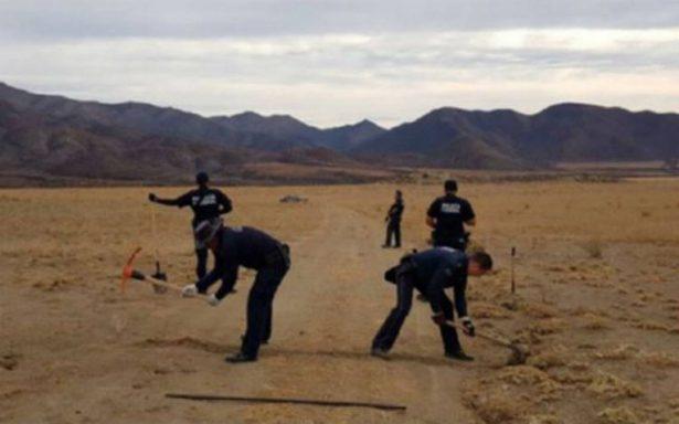 Policía Federal destruye narcopista en Ensenada