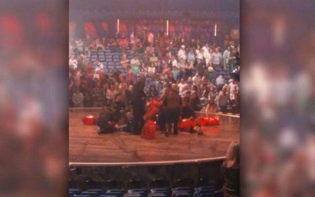 Muere acróbata del Cirque du Soleil tras sufrir una caída en pleno espectáculo