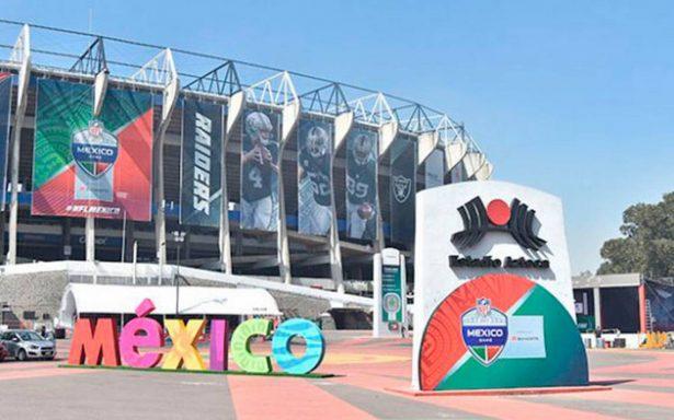 Estadio Azteca listo para recibir la NFL en partido de Patriots vs Raiders