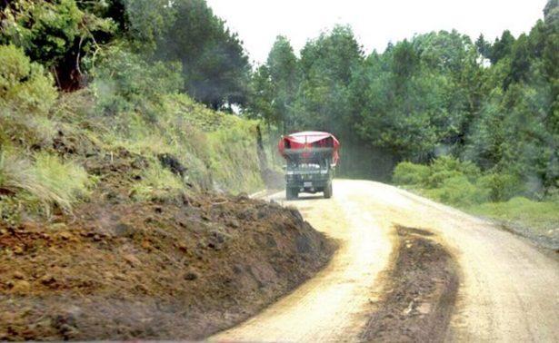Carretera escénica al Pico de Orizaba, en deplorable estado