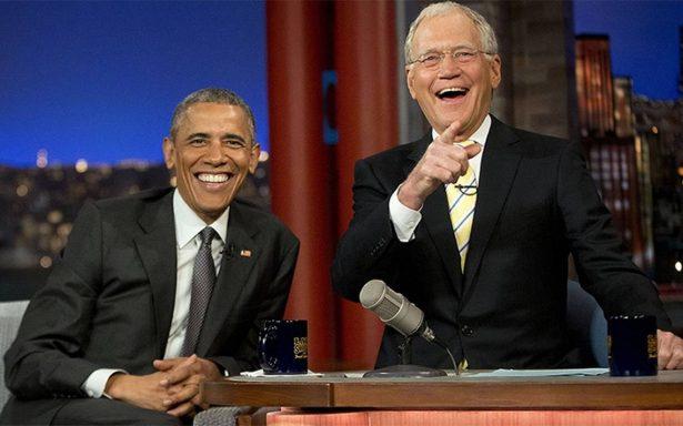 Obama será el primer invitado del programa de David Letterman en Netflix