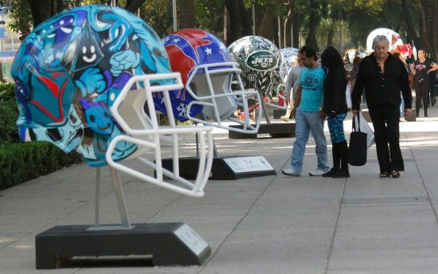Ya se vive el ambiente de la NFL con el Ball Parade en Reforma