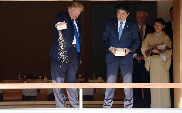 Trump y Abe escenifican su unidad frente a Corea del Norte