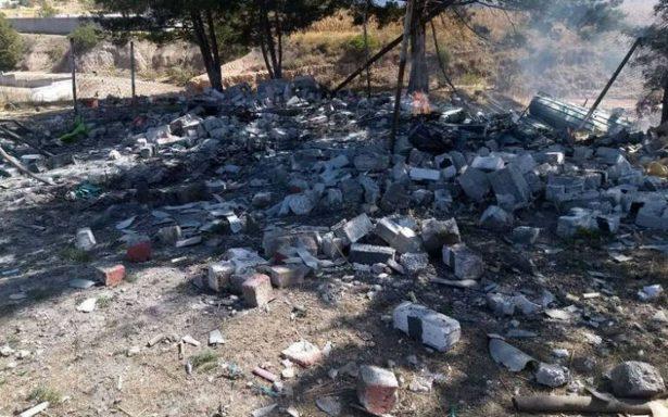 Muere una persona tras explosión de polvorín en Acambay