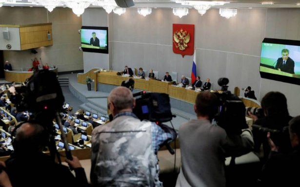 """Rusia responde a sanciones de EU con ley """"agente extranjero"""""""
