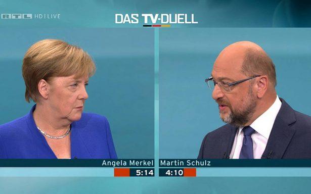 Merkel gana debate contra Schulz; consolida sus posibilidades presidenciales