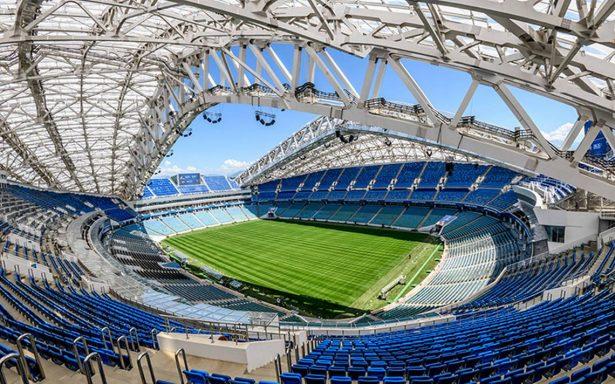 Templos del futbol: Así luce el colorido estadio Fisht