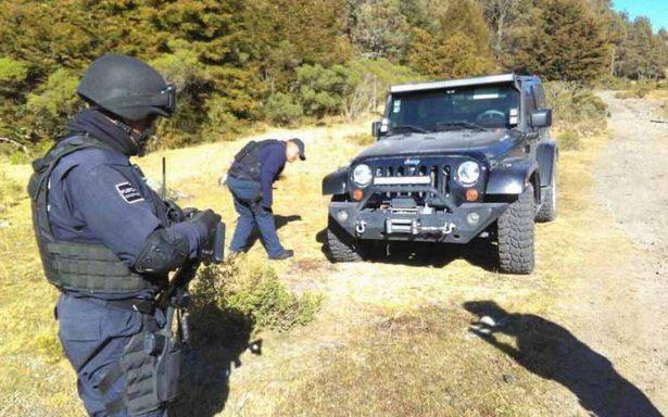 Localizan camioneta robada a familia en el Nevado de Toluca