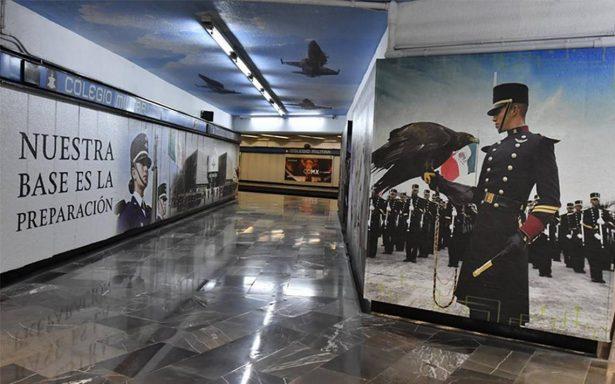 [Fotos] Inauguran en el Metro estación emblemática del Ejército y Fuerza Aérea