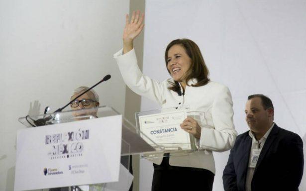 Margarita Zavala, la única mujer en la contienda