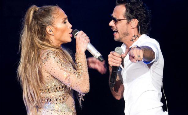J.Lo le niega beso a Marc Anthony en pleno concierto