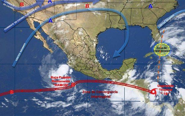Remanentes de la depresión tropical Ramón se sentirán en Guerrero