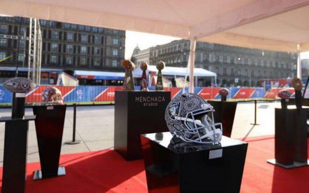 Inauguran NFL Fan Fest en el Zócalo en marco de Raiders-Pats