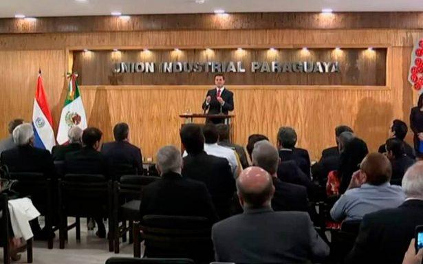 Ante empresarios paraguayos, Peña Nieto asegura que hay estabilidad política y económica en México