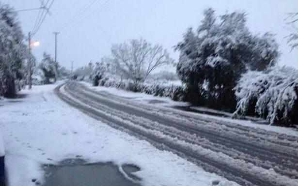 Prevén caída de nieve granulada y aguanieve en Nuevo León y Tamaulipas