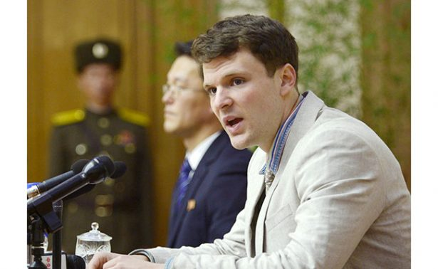 Estudiante de EU liberado por Corea del Norte sufre severa lesión neurológica