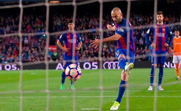 ¡Mascherano anota su primer gol con Barcelona tras 319 partidos!