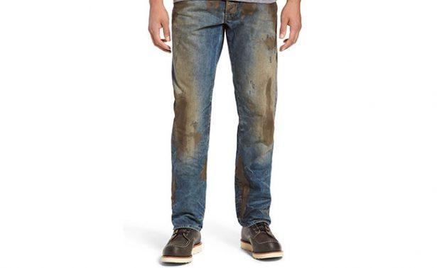 "Nueva moda millenial: Jeans ""sucios"" por casi ¡8 mil pesos!"