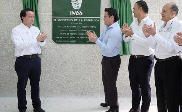 Inauguran clínica  del IMSS en Tesistán