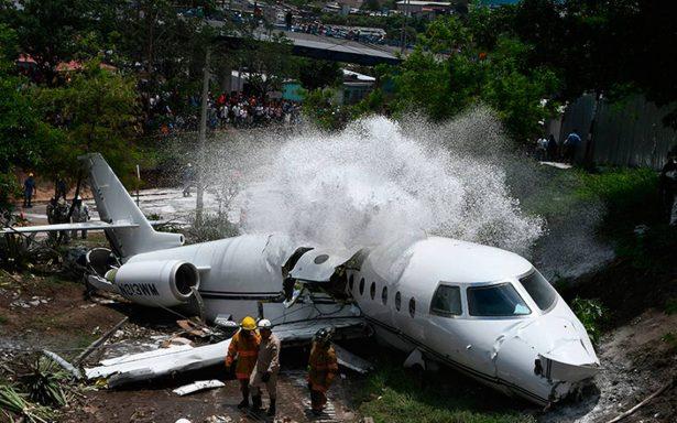 Al menos seis heridos en accidente de avión privado en aeropuerto de Honduras