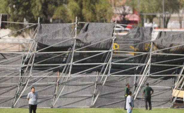 [Video] Caída de espectacular en estadio de Guanajuato deja un lesionado