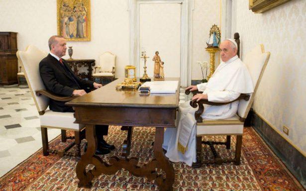 En medio de un Vaticano blindado, Papa recibe al presidente turco Erdogan
