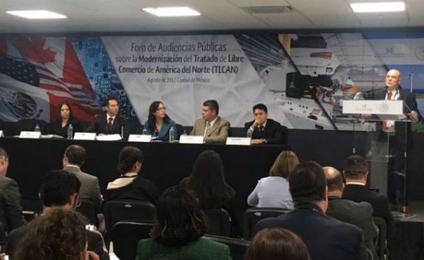Secretaría de Economía inicia foro de audiencias públicas sobre TLCAN