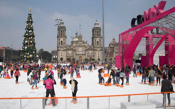 ¿Cuándo abrirá la pista de hielo en el Zócalo?