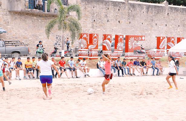 Torneo de futbol  playero en Huejutla