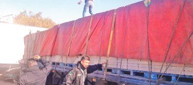 Recuperan agentes de Tizayuca tráiler cargado