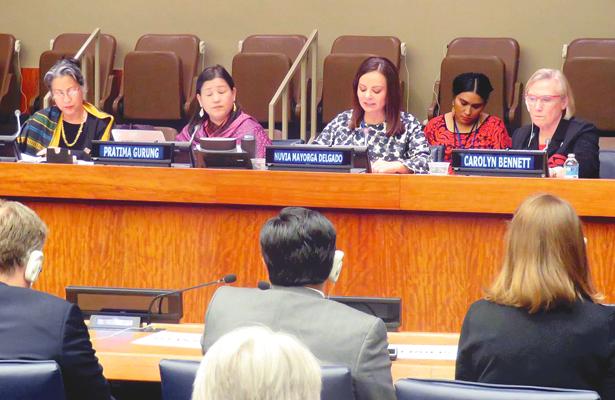 Nuvia Mayorga tuvo participación en la ONU