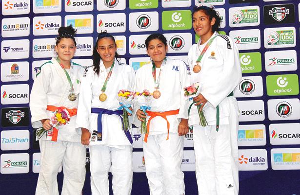 MARCELA García (cinta azul) es campeona olímpica de Hidalgo. Foto: Sol de Hidalgo.