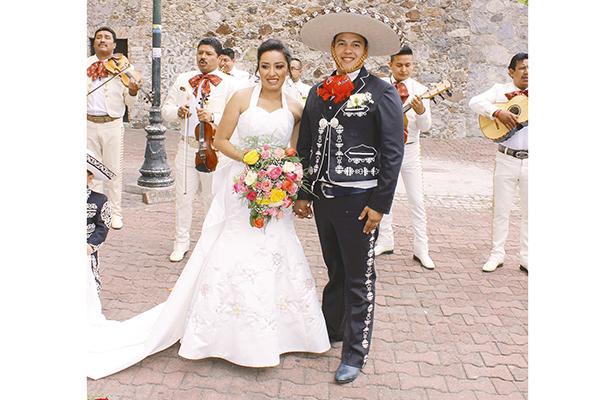 Se casarón Melina y Mario