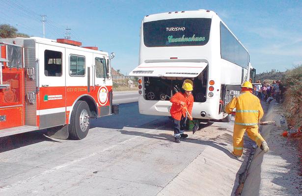 Conato de incendio en autobús